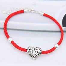 (07119) 2011 style high quality silver knotted string bracelets