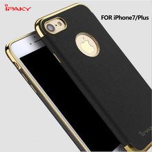 iPaky Ultra Slim Plating PU Leather Skin TPU Soft Case For iPhone 7 / 7 Plus