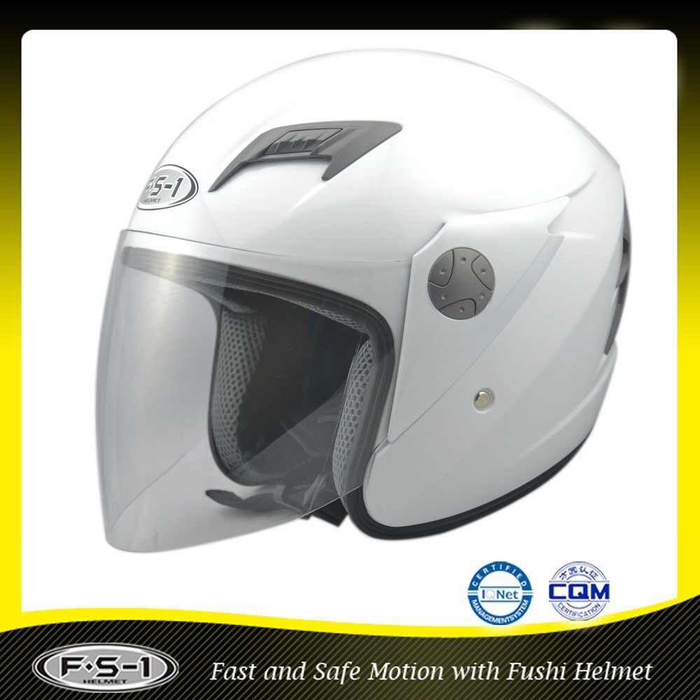 White DOT open face vintage motorcycle helmet for sale