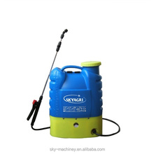 low price backpack 16L PE material electric operate agricultural flied spraying machine sprayer