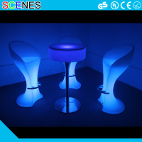 Night Club Lighting bar glowing illuminated led light table