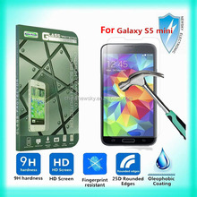 0.33mm 9H tempered glass screen protector for samsung galaxy s5 mini