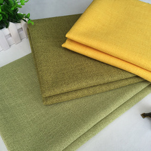 professional Custom home textile Colorful imitated linen cotton fabric for sofa from china