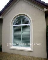 European Style PVC top arch louver shutter window W-PVC0851