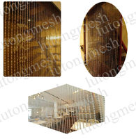 String door curtain with beads/Metal bead curtains for windows