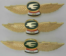 custom metal pilot wing badges with butterfly clutch back