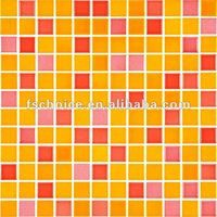 red and yellow mixed ceramic mosaic wall and floor tiles