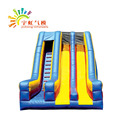0.55MM PVC Giant Kids Double Inflatable Slide With CE/UL Blower