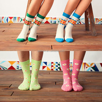 New Products 2015 Top quality hot sale sock school girl
