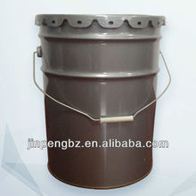 20L grey color steel/metal paint bucket