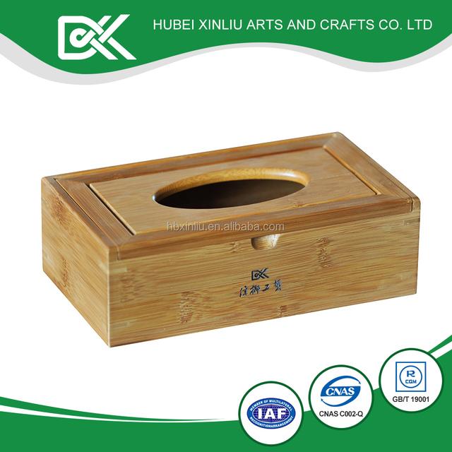 Custom household cheap modern blank bamboo tissue box