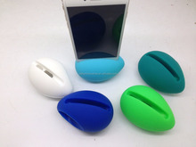 2016 new wireless no batteries mini silicone egg speaker mini mobile phones portable speakers for iphone promotional gifts