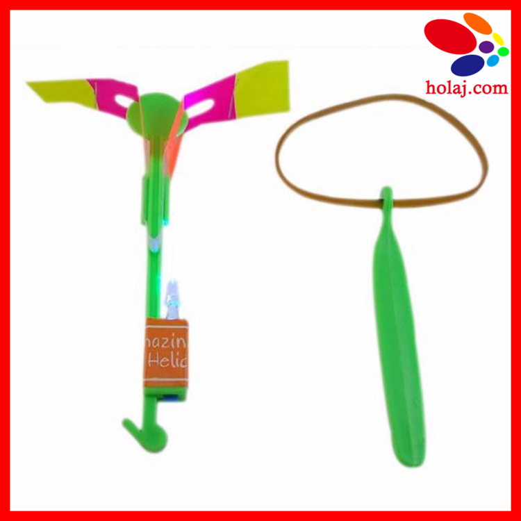 Novelty Kids LED Flying Toys Biggest Size Slingshot Amazing Arrow Helicopter For Birthday Party Supplies