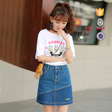 OEM serivice bulk wholesale beautiful girl styles mini denim skirt