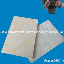 Vinyl covered types of false ceiling boards,gypsum board false ceiling