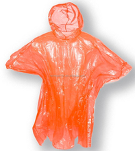Popular yellow rain coat, adult PVC long raincoat adult disposable plastic raincoats with hood