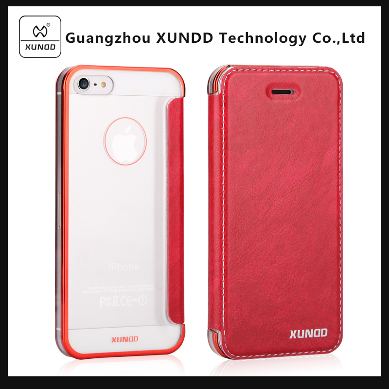[XUNDD] Hard PC China manufacturer wholesale phone case stand style flip cover case for iphone 5