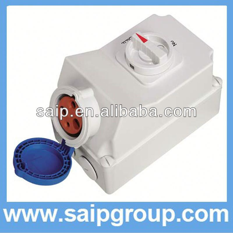 New IP44 13 amp 2 gang switched socket SP6571