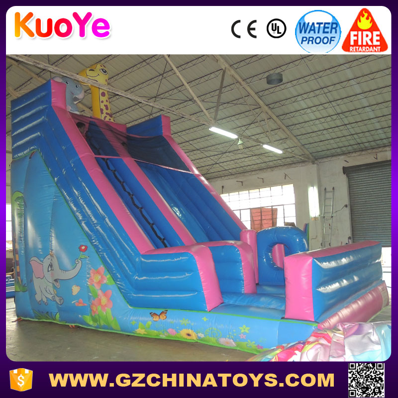 dry slide type and 0.55mm plato pvc material inflatable kids slide