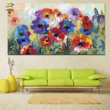 Cheap Price Watercolor Rich Detailed Modern Flower Oil Painting on canvas for wall decoration
