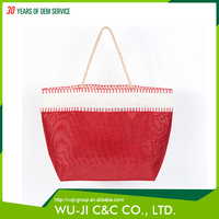 China wholesale high quality folding jute shopping bag