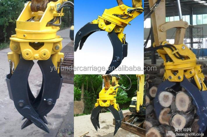 Hitachi EX400 hydraulic grapple ,excavator wood and stone grapple machine for sale
