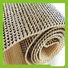 A grade Iron on Rhinestone Mesh Hot fix Rhinestone Sheet Crystal Mesh 3MM SS10