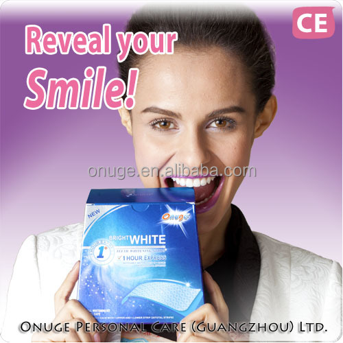 Onuge teeth whitening dry strips no need 3D crest whitestrips