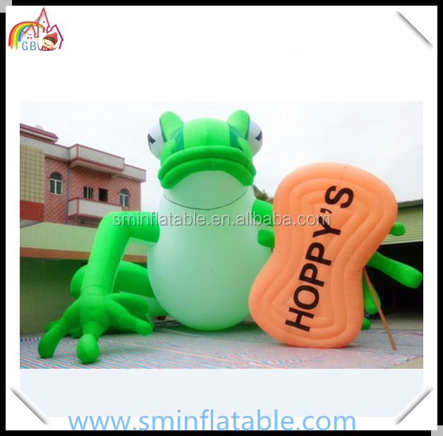 Promotion inflatable frog model,vivid inflatable animal cartoon for outdoor , advertising inflatable green frog cartoon model