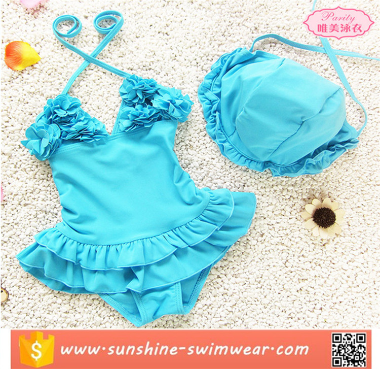 2016 Summer New Designed Child Swimsuits Sexy Sling Bikini Beachwear