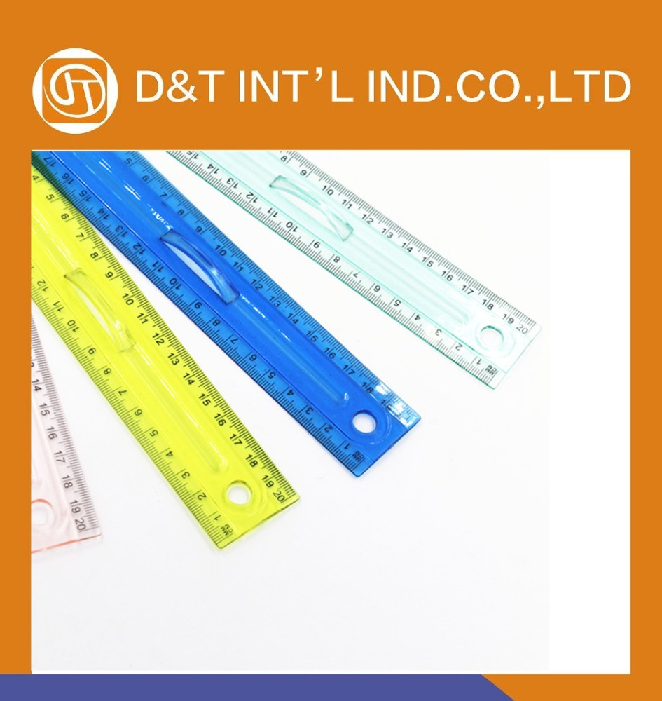 Plastic Ruler with Handle for School & Office supplies
