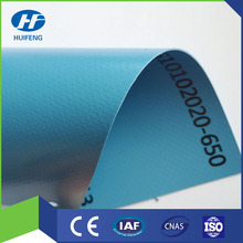 PVC Knifed Coated Truck Cover 1000D*1000D 20*20 650g Light Blue