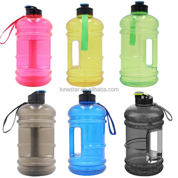 2017 Amazon wholesale BPA free 2.2l Hydrate Drinking petg Large Capacity Sports Water Bottle in Europe