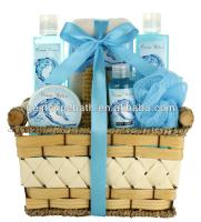 Romantic Bath and Body Works in wooden basket