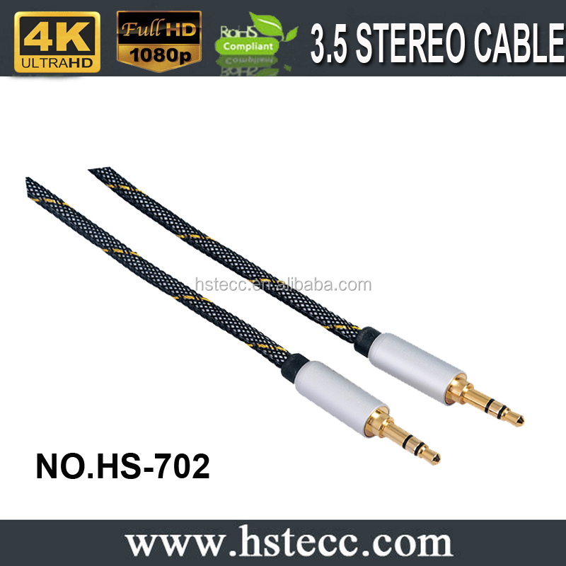 3.5mm phone plug stereo audio cable