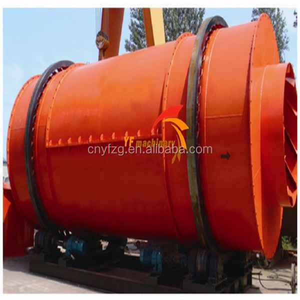 rotary drum dryer of 3 cylinders to save land and energy