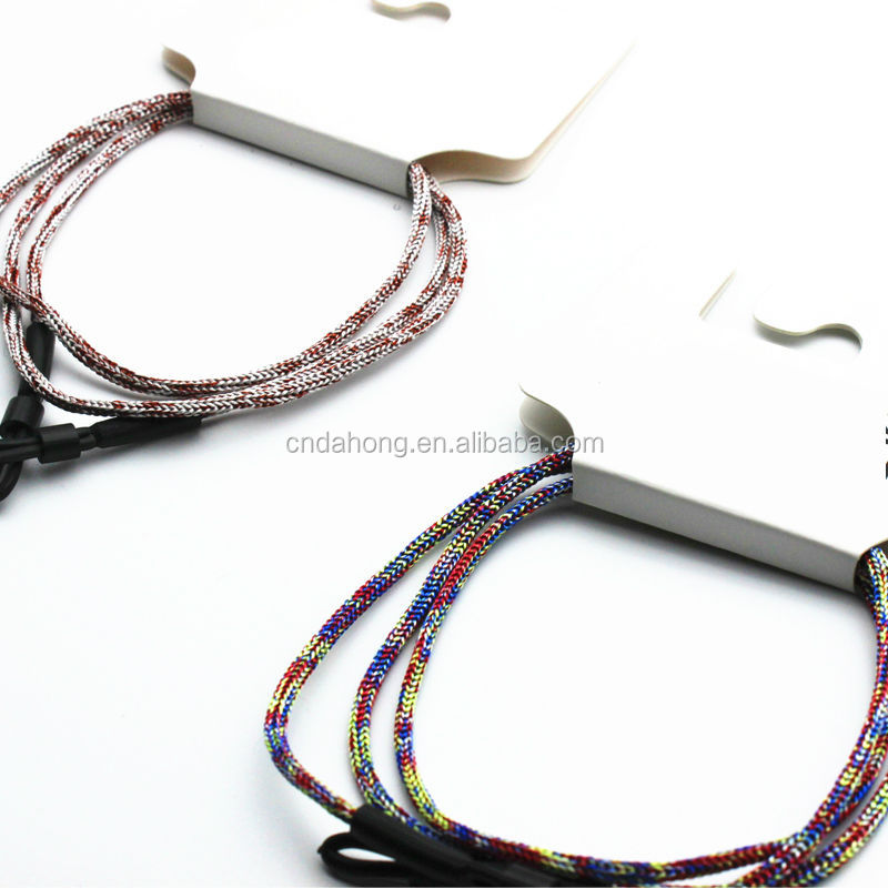 Mixed color vintage style no metal polyster eyeglass chain strap lanyard necklace cord neck multiple eye glass holder