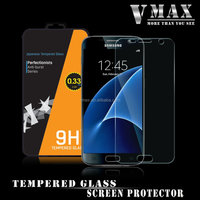 100% Tranaparent Glass!! Edge to edge full size anti-shock waterproof tempered glass screen protector for Samsung Galaxy S7