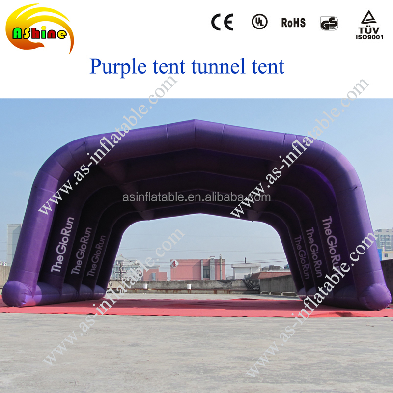 Large inflatable purple arch tent outdoor inflatable lawn event tent giant tent inflatable