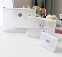 2015 New Korean Style Fashion Display Clear Travel Cosmetic Toiletry Bag Set