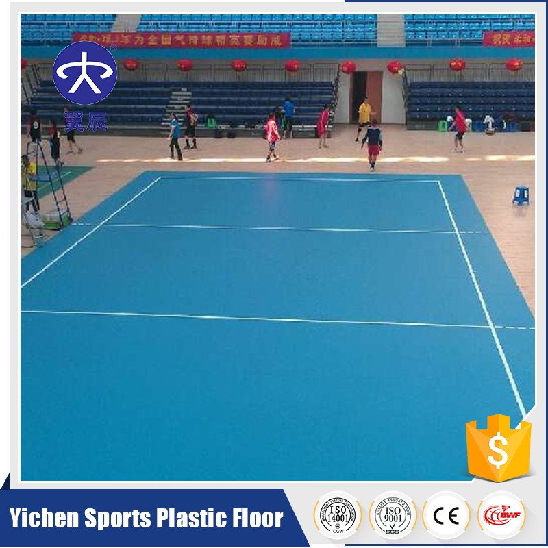 PVC plastic flooring/indoor volleyball courts flooring/PVC sports flooring
