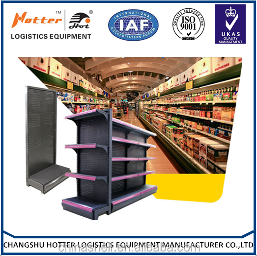 Guangzhou supplier Metallic Double-side Rus-preventing supermarket shelves