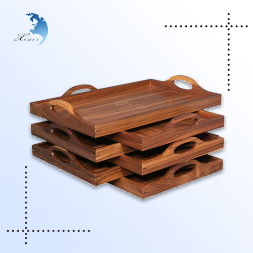 Healthy wholesale wood serving hospital food tray
