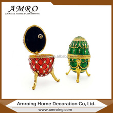 Wholesale new faberge egg metal Music jewelry boxes