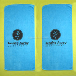 Blue Color Beach Towel 100% Cotton Velour Reactive Dyed Towel Beach Towels for Promotion gifts