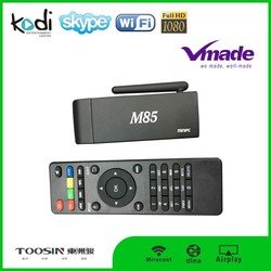 M85 android 4.4 ir remote control mini pc android 4.4 hd tv stick