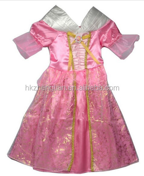 2015 Instyles Princess child pink sleeping beauty dress The First Childs Fancy Dress Kids Costume
