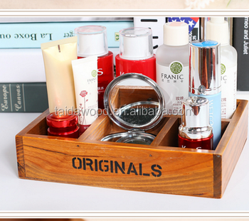 A small wooden box custom storage tray