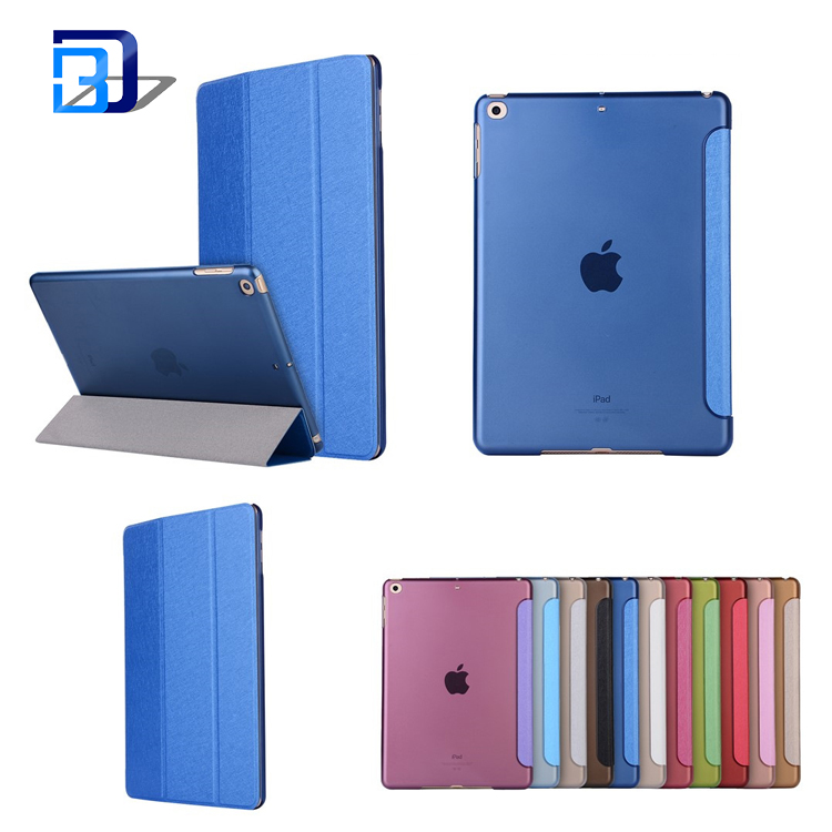 Flip tablet case 9.7 inch faux leather pc hard shell solid color tablet case for iPad 9.7 2017 for iPad Air1/2