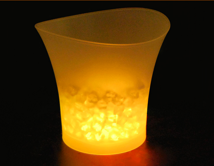 2015 Hot sale LED Shine Ice Bucket ,Resistance champagne ice bucket,KTV bars luminous ice bucket